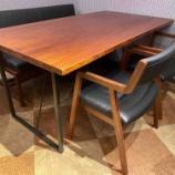 『ウォールナット空間にお勧めのチークテーブル』の画像
