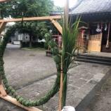 『戸田市上戸田氷川神社で、本日16時より夏越の大祓(なごしのおおはらえ)。茅の輪くぐりもできます。お越しください。』の画像