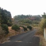 『山武市埴谷 北向き急斜面上の分譲地』の画像