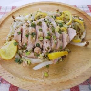 オーブンでしっとり仕上がる♪鶏むね肉の柚子味噌焼き