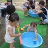 『久しぶりに水遊び』の画像