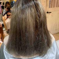 表参道 神宮前 都内で美髪パーマが得意な美容室MINX原宿☆須永健次☆セルフブリーチした髪にストレートパーマ 縮毛矯正をかけてみました。