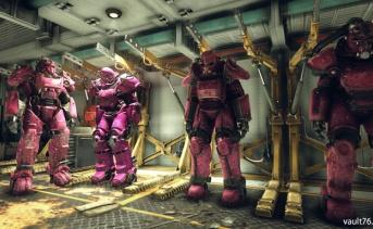 パワーアーマー:ピンクのトッピング塗装