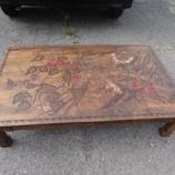 『再生家具の讃岐彫り座卓』の画像