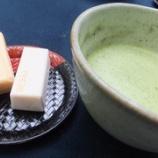『新緑の嵐山・嵯峨野へ③~大河内山荘でお抹茶と鶴屋吉信の最中をいただく』の画像
