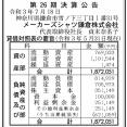 メーカーズシャツ鎌倉 決算公告(第26期)