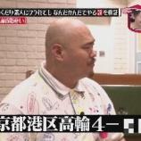 『クロちゃん、住所が東京港区高輪4のC-4号室と本名の黒川明人をばらされるwww【水曜日のダウンタウン画像】』の画像