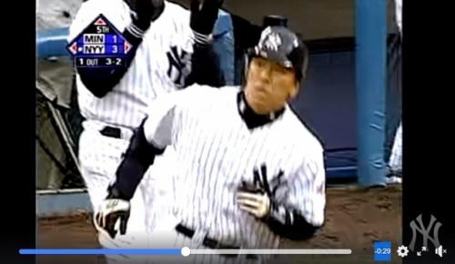 松井秀喜の本拠地デビュー満塁弾がヤンキース公式サイトに取り上げられファンの間で再び話題に