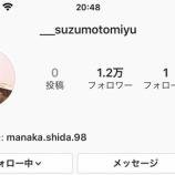 『【元欅坂46】志田愛佳もフォロー!!鈴本美愉、卒業後早くもインスタアカウントを開設!!!!!!!!!!!!』の画像