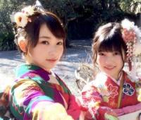 【欅坂46】「B.L.T」3月号に上村莉菜・佐藤詩織の振袖姿が!これは可愛い!!