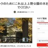『上野公園の大木も伐採』の画像