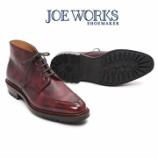 『誂靴 | JOE WORKS JOE-0 CHUKKA BOOT Uモックスプリットトゥ ミュージアムワイン』の画像