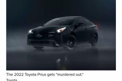 トヨタ「プリウス」に黒過ぎる特別仕様車が設定される