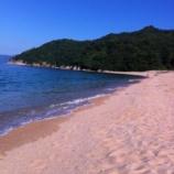 『蔵のそばにある越浜(おっぱま)ビーチが綺麗です』の画像