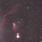 『シグマ105mmF1.4DG ARTによるオリオン座を移動中のアトラス彗星(C/2020 M3)』の画像