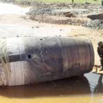 """【中国】ミャンマーに謎の""""巨大金属物体""""が落下!中国のロケットの残骸か? [海外]"""