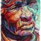 まるで油絵みたいなペーパーアート!折り曲げた紙で作られた肖像画がおもしろい