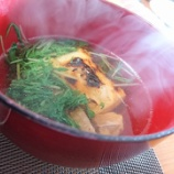 『お正月2日目は水菜のお雑煮』の画像