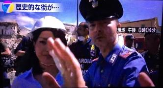 【NHK】イタリア地震の中継、必タヒの救助活動の邪魔をし怒られる。