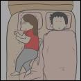 子供と別で寝てると布団がかかってるか気になるね