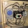 不動産会社 看板の電源工事