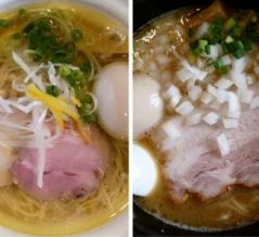 鶏淡麗らーめん vs 鶏白湯らーめん。栃木市・麺堂HOMEの好対照な2杯