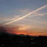 『屋上からの夕日』の画像