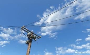 電線が風で揺れるMOD