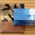 藍染めと柿渋染めの名刺入れ(カード入れ)