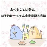 『食べることは幸せ。M子的けーちゃん食育日記④完結』の画像