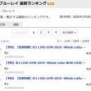 DVD/BD「Whole Lotta NEW LOVE-」、楽天ブックスBD・DVDランキングで1~3位独占