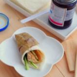 『ナムプリックパオ(タイの調味料)で北京ダック風サンドイッチ』の画像
