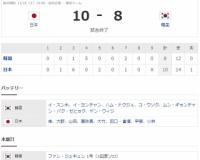 プレミア12 Sラウンド JPN10-8KOR [11/16] 日本打撃戦制し決勝戦へ!2回菊池先制打・3回3適時打6点・5回も2適時打!