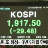 『【悲報】5兆ウォンの鬼売り!韓国経済崩壊で海外投資家の韓国離れが加速。』の画像