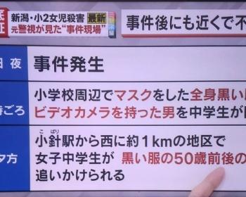 【新潟殺害事件】大桃珠生ちゃん事件の犯人のように報道されている不審者の正体・・・まさかの可能性・・・(画像あり)