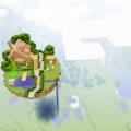 マイクラで浮遊島を作って家を建ててみた(Floating Island)