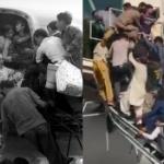 【画像比較】アフガニスタン、逃れようと民航機に群がる市民、あの時のベトナムと同じだ…。