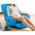 ヒジ付のゆったり設計♪ワッフル生地のカラフル座椅子…