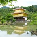 京都 金閣寺 「上品な輝きを映す水鏡」