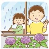 『【クリップアート】雨をながめる子どものイラスト』の画像