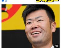 阪神・榎田 500円減で笑顔のサイン