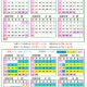 2020年 下期カレンダー