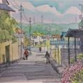 町田・薬師ヶ丘住宅風景をスケッチ