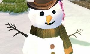 雪だるまの帽子がアレに見える