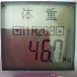 『目標まで残り3.5キロ【ヤセ期】目指せ43.2キロ』の画像