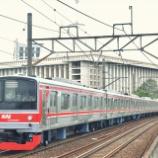 『遅れ90分・・・武蔵野線205系M20編成運輸省試運転(12月17日)』の画像