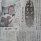 『ワインにぴったり→イチジク・鈴木さん新聞へ!!』の画像