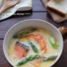 塩鮭で簡単!アスパラと鮭の豆乳スープ