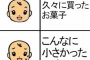 【あるある】久々に買ったお菓子 → こんなに小さかったけ?