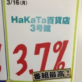 日テレ内に貼られているHaKaTa百貨店3号館の視聴率の書かれた紙。他
